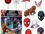 Happy Birthday Banner Spiderman Marvel Spider Man Scene Setter Wall Decoration Poster