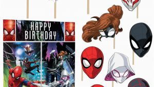 Happy Birthday Banner Spiderman Marvel Spider Man Scene Setter Wall Decoration Poster