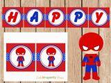 Happy Birthday Banner Spiderman Spiderman Happy Birthday Banner Instant Download Diy