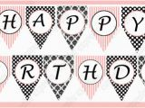 Happy Birthday Banner Template Black and White 7 Best Images Of Paris Party Birthday Banner Free