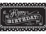 Happy Birthday Banner Template Black and White Black White Birthday Party Supplies Party City