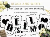 Happy Birthday Banner Template Black and White Printable Banner Letters Black and White Letters Make Your