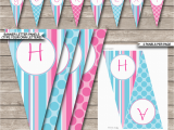 Happy Birthday Banner Template Editable Girls Birthday Party Banner Template Happy Birthday Bunting