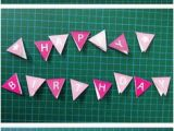 Happy Birthday Banner Template for Cake Free Printable Mini Birthday Bunting Bunting Banner