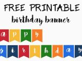 Happy Birthday Banner Template for Cake Happy Birthday Banner Free Printable Paper Trail Design