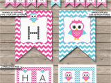 Happy Birthday Banner Template Free Printable Owl Birthday Banner Template Birthday Banner Editable