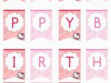 Happy Birthday Banner Template Hello Kitty Hello Kitty Happy Birthday Banner by Printabletreats