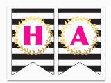 Happy Birthday Banner Template Printable Free Printable Happy Birthday Banner and Alphabet Six