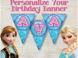 Happy Birthday Banner Template Printable Pdf Free Printable Frozen Alphabet and Birthday Banner Pack