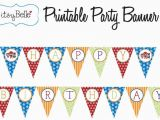 Happy Birthday Banner Template Printable Pdf Lil 39 Super Hero Collection Printable Birthday Banner by