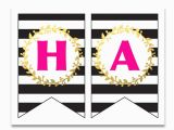 Happy Birthday Banner to Print Free Printable Happy Birthday Banner and Alphabet Six