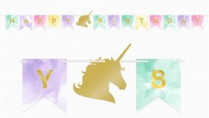 Happy Birthday Banner Unicorn Printable Unicorn Party Supplies Sweet Pea Parties