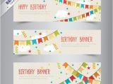 Happy Birthday Banner Vector Free Download Birthday Banners with Bunting Vector Free Download