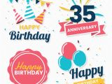 Happy Birthday Banner Vector Free Download Happy Birthday Vector Logo for Banner Vector Premium