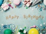 Happy Birthday Banner Vintage Happy Birthday Banner Colorful Holiday Supplies On Blue