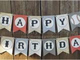 Happy Birthday Banner Vintage Personalized Happy Birthday Banner Vintage Baseball Birthday