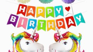 Happy Birthday Banner Walmart Canada Happy Birthday Party Decorations Supplies with Unicorn