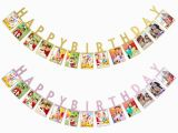 Happy Birthday Banner with Baby Photo 1set Happy Birthday Photo Banners Baby Shower Paper
