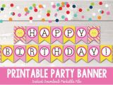 Happy Birthday Banner with Name Edit Items Similar to Sunshine Happy Birthday Banner Instant