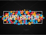 Happy Birthday Banner Word Template Happy Birthday Banner Background Illustrations
