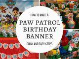Happy Birthday Banner Youtube How to Make Paw Patrol Happy Birthday Banner Free