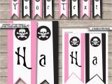 Happy Birthday Banner Youtube Pirate Girl Party Banner Template Happy Birthday Bunting