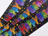 Happy Birthday Banners Card Factory Holographic Black Happy Birthday Party Banners Only 99p