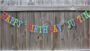Happy Birthday Banners Card Making Personalized Happy Birthday Banner Made to order