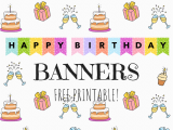 Happy Birthday Banners Colorful Birthday Banners Cute Freebies for You