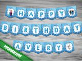 Happy Birthday Banners Custom Frozen Happy Birthday Banner Personalized with Name