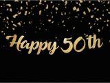 Happy Birthday Banners Custom Happy 50th Birthday Banner Custom Birthday or Anniversary