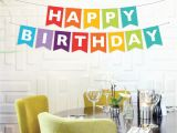 Happy Birthday Banners Diy Instant Download Happy Birthday Banner Rainbow Birthday