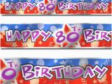 Happy Birthday Banners Ebay 12ft Blue Red Happy 80th Birthday Party Foil Banner