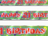 Happy Birthday Banners Ebay 12ft Green Red Happy 21st Birthday Party Foil Banner