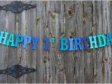 Happy Birthday Banners Etsy Happy 1st Birthday Banner Personalized Birthday Banner Under