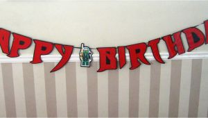 Happy Birthday Banners Etsy Ninja Font Happy Birthday Banner Giant Size by Devany On Etsy