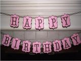 Happy Birthday Banners for Adults Happy Birthday Banner Modern Banner Pink by
