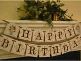 Happy Birthday Banners for Adults Items Similar to Happy Birthday Banner Garland for Adults
