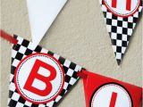 Happy Birthday Banners for Card Making Race Car Happy Birthday Banner Instant by Gwynnwassondesigns