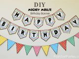 Happy Birthday Banners Free A Mickey and Minnie Mouse Party Free Printable Happy