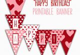 Happy Birthday Banners Images Happy Birthday Banner Birthday Party Printable Sign Red