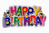 Happy Birthday Banners Images Party butiko Minion theme Happy Birthday Banner Amazon In