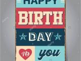 Happy Birthday Banners Near Me 1950s Poster Art Stock Vector Images Alamy
