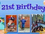 Happy Birthday Banners Next Day Delivery Balloon Background Birthday Banner with Up to 6 Pictures
