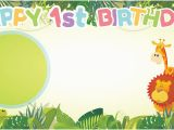 Happy Birthday Banners Next Day Delivery Happy 1st Birthday Jungle Design Small Personalised Banner