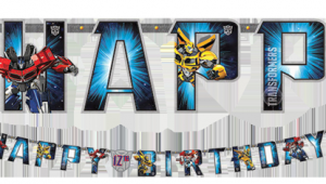 Happy Birthday Banners Nz Transformers 39 Add An Age 39 Happy Birthday Banner Just