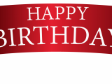Happy Birthday Banners Pictures Red Birthday Banner Png Clipart Image Gallery