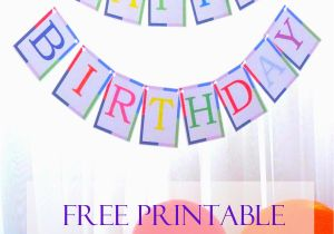 Happy Birthday Banners Printable Free Free Printable Birthday Banner