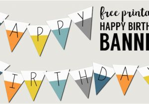 Happy Birthday Banners Printable Free Free Printable Happy Birthday Banner Paper Trail Design
