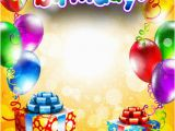Happy Birthday Banners Psd Free Download Happy Birthday Postcard Template Free Vector Download